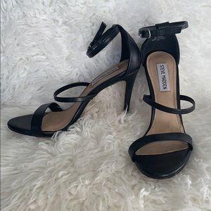 steve madden sheena high heeled sandals black 7.5